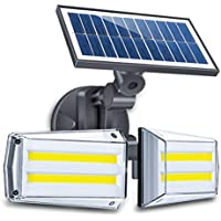 Solar Lights Outdoor, ErayLife Solar Powered Motion Sensor Light, 80COB Solar Security Lights Waterproof, Adjustable Angle, 360°Microwave Radar Sensor for Wall, Pathway, Fence, Garden, Patio