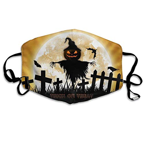 Avagea Trick Or Treat Halloween Mask, Anti Dust Mask, Comfortable, Breathable, Healthy, Can Be Washed Reusable -