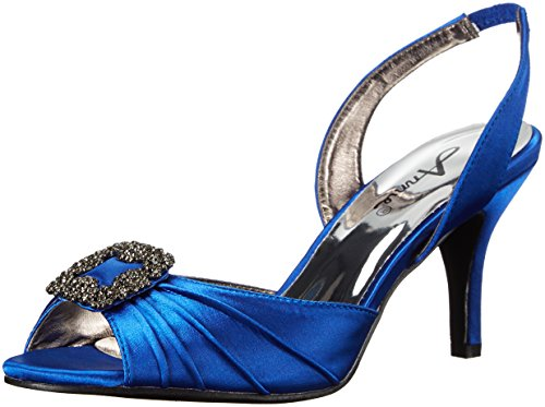 Annie Chaussures Femme Large Lara Veau Robe Sandale Bleu
