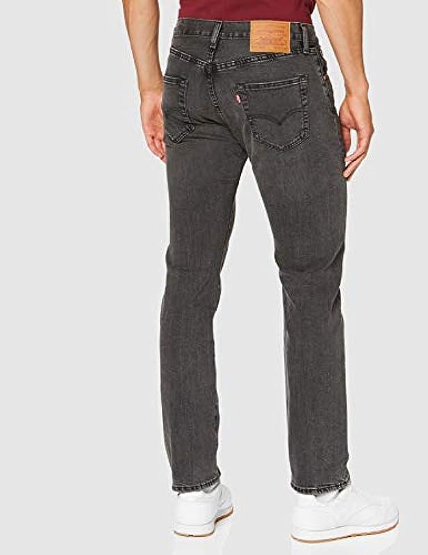 Levis® 501® dżinsy – Regular Straight Fit – Stonewash – Onewash – Marlon Wash – Black z paskiem Urban Classics: Odzież