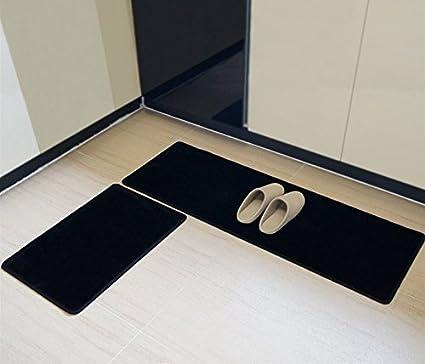 16/×48 anti bact/érien Tapis de sol confort de cuisine /étanche antid/érapant Brown 16/×48 Polyester multi-usages