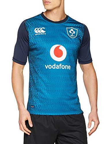 Canterbury Ireland Rugby 2018/19 Vapodri Short Sleeve Alternate Pro Jersey - Adult - Moroccan Blue - Large