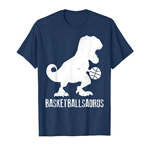 - Mens Casual T-Shirt Man Dinosaur Printed Short Sleeve Crewneck Tops Summer Beach Blouse Sports Basketball Clothes Navy