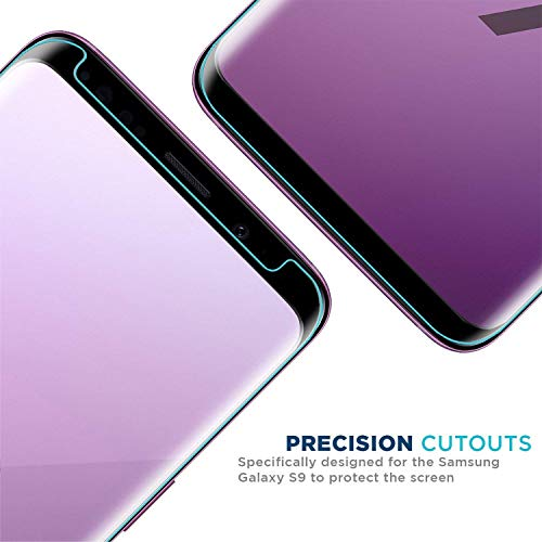 Galaxy S9 Screen Protector [2-Pack], OLINKIT [CASE-FRIENDLY] Tempered Glass Screen Protector for Samsung Galaxy S9 - Black by OLINKIT (Image #4)