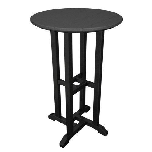 Contempo Round Counter Bar Table Finish: Black Frame / Slate Grey