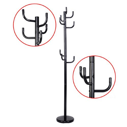 NEW Metal Coat Rack Hat Stand Tree Hanger Hall Umbrella Holder Hooks Black