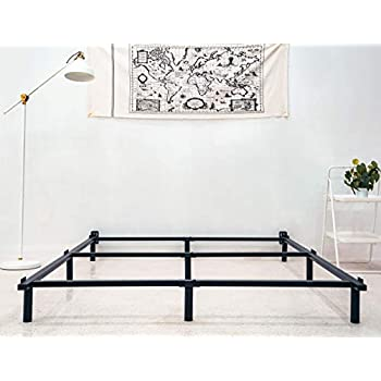 Amazon Com Zizin King Size Bed Frame For Box Spring Metal