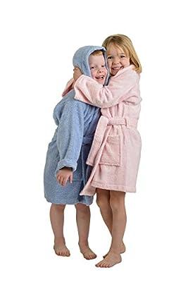 Hooded 100% Premium Long-Staple Cotton Kids Bath Robe, Unisex, 6 Colors
