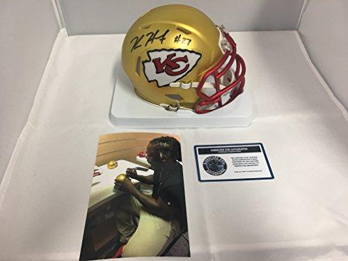 Kareem Hunt Signed Autographed Kansas City Chiefs RARE BLAZE Speed Mini Helmet KHunt Hologram Sig Dog & COA Card W/Photo Of Signing (Sigs Football Card)