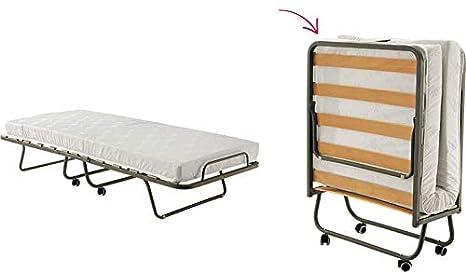 Viglietti Cama Plegable con Ruedas y colchón Individual de Espuma Ecológica MIS. 80 X 190: Amazon.es: Hogar