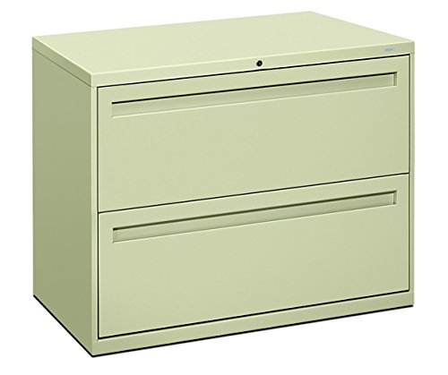HON 782LL 700 Series 36 by 19-1/4-Inch 2-Drawer Lateral File, Putty - Safco Lateral File