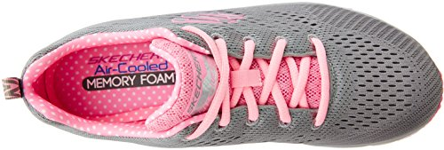 Fashion Donna Skechers Moda Rosa alla Sneaker Grigio Statement Piece Fit 6xwwqp0Td