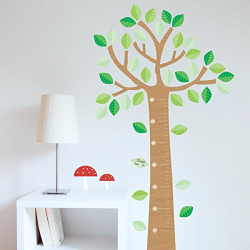 - Peel and Stick Wall Decals - Fun and Colorful Growth Tree for Young Child, By Paper Riot
