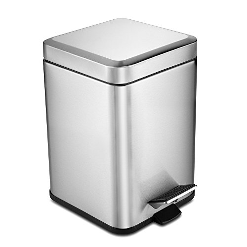 Deppon 6 Liters 1 6 Gallons Step Stainless Steel Trash Can