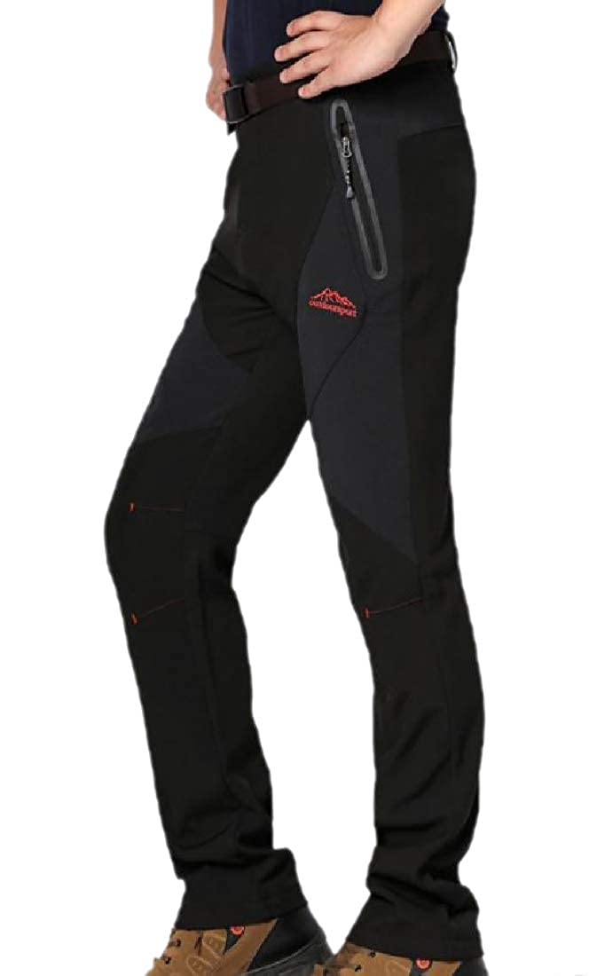 RDHOPE-Men Casual Loose Breathable Hiking Insulated Jogger Pants