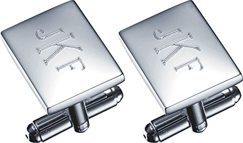 Personalized Visol Silver Cufflinks Engraving product image