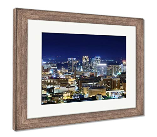 (Ashley Framed Prints Downtown Birmingham, Alabama, Wall Art Home Decoration, Color, 26x30 (Frame Size), Rustic Barn Wood Frame, AG32675141)