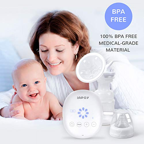 Electric Breast Pump - Breastfeeding Pump with Automatic Mode & Breast Massage HD LED Display Touch Screen - Electric Single Breast Pump BPA Free by iAPOY (Image #5)