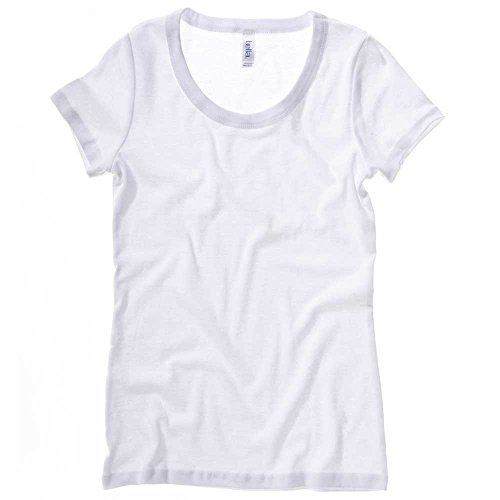 Bella Margot Sheer Rib Scoop Neck Ladies T Shirt