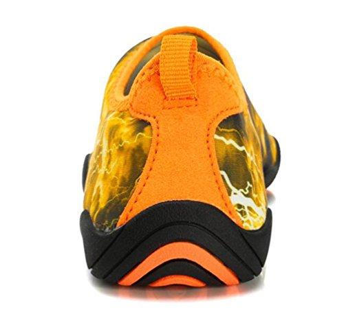 Ligero de natación Athletic Cojín de aire Monk-correas Running transpirable PE entrenamiento de gimnasio cómodos zapatos de los hombres UE tamaño 38-45 Orange