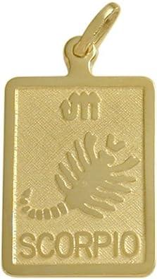 14 Karat Yellow Gold Scorpio Zodiac Pendant with Chain