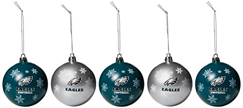 (Philadelphia Eagles 2016 5 Pack Shatterproof Ball Ornament Set)