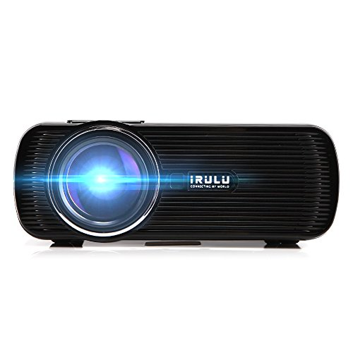 Best irulu projector 1200 lumen led projector hdmi usb for Highest lumen pocket projector