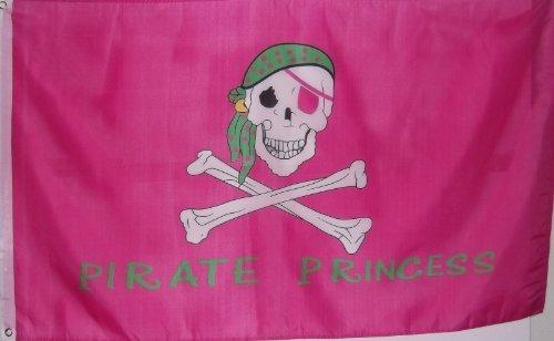 3'x5' PIRATE PRINCESS FLAG (Pirate Girl Flag)