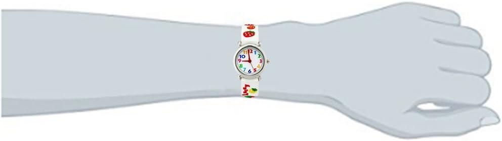 3D Cute Cartoon Quartz Montre Montres Bracelets avec Silicone Bande Professeur de Temps comme Cadeau pour Les Petites Filles garçon Enfants Enfants - Dinosaures jurassiques Rouges … Fraise blanche