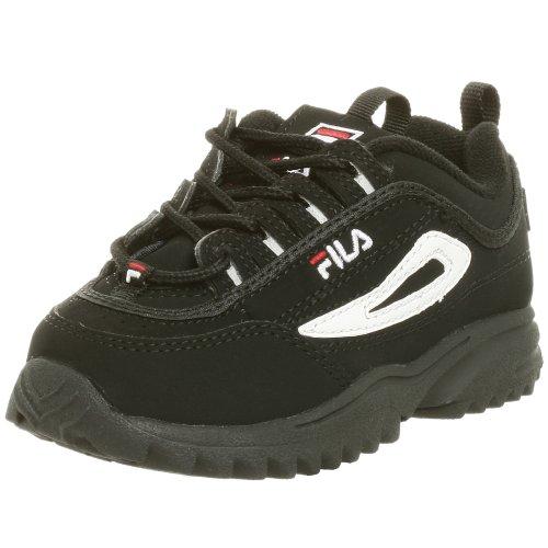 Fila Disruptor II Sneaker(Toddler),Black/White/Red,5 M US...