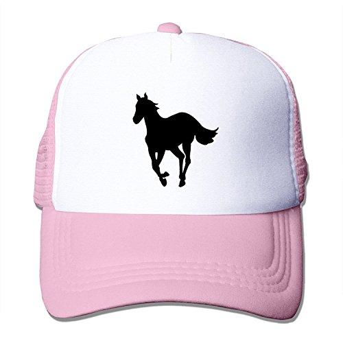 LIANBANG deftones white pony logo Adjustable Printing Mesh Cap Unisex Adult Sun Visor Baseball Mesh Hat - Pink