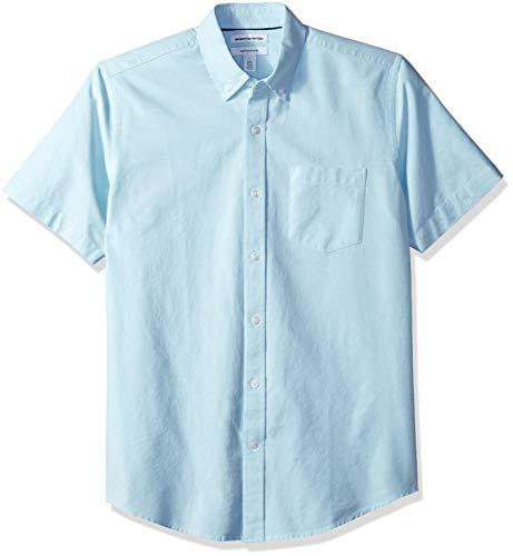 Amazon Essentials Men's Regular-Fit Short-Sleeve Solid Pocke