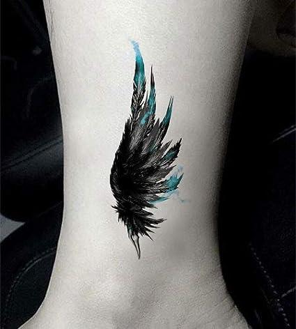 Yangll Alas Etiqueta Engomada Temporal del Tatuaje Impermeable ...