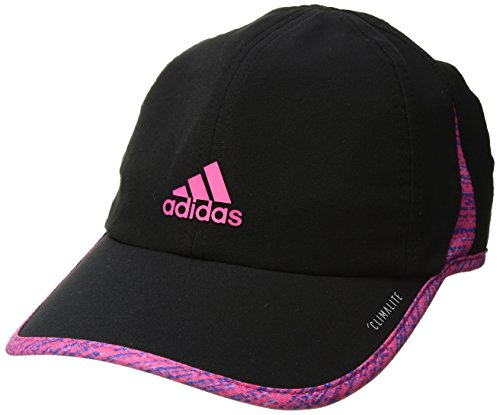 Hat Athletic Print - adidas Women's Superlite Relaxed Adjustable Performance Cap, Black/Subdued Print/Shock Pink, One Size