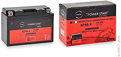 NX YT9B4;YT9B-4;GT9-B4;GT9B4 NT9B-4 12V 8Ah Batteria moto YT9B-4 YT9B-BS