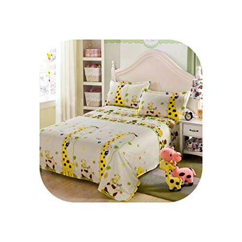 Comforter Sets 3Pcs Plaid Bedspread Earthing Sheet Queen Size Bed Flat Sheet Cotton Set for Wedding Home Decoration,No.01,Twin(1Sheet 2Shams)