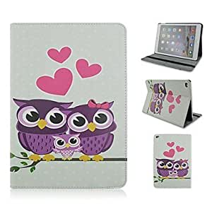 Fashion Painted Owls PU Tablet Protect Case with Stand for iPad Air 2 by ruishername