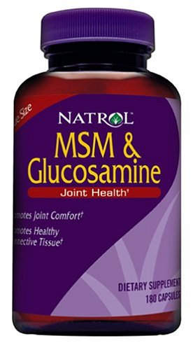 Natrol MSM and Glucosamine, 180 Capsules (Pack of 2), My Pet Supplies