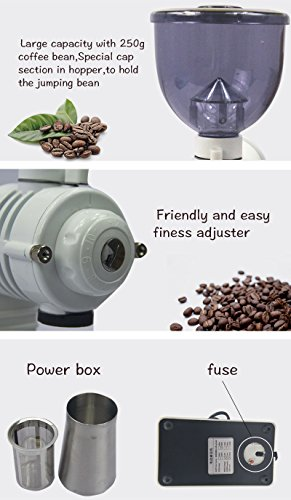 Chef Essentials Commercial coffee grinder Single origin pour coffee bean coffee bean machine Small round bladed disc (800A) by CHEF ESSENTIALS (Image #2)