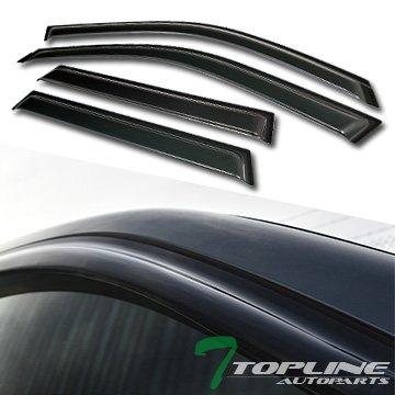 Topline Autopart Smoke Window Visors Deflector Vent Shade Guard 4 Pieces For 01-06 BMW X5 E53 ()