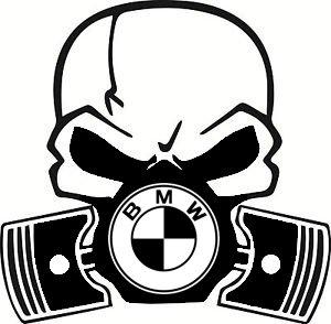 BMW Calavera Máscara de gas de pistón coche Vinilo 1 2 3 4 5 6 7