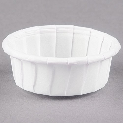 Dart Solo 050S-X2050 0.5 oz. White Squat Paper Souffle / Portion Cup - 250/Pack by Dart Solo