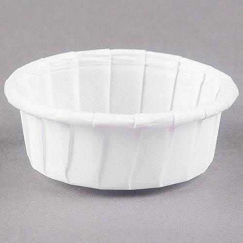 Dart Solo 050S-X2050 0.5 oz. White Squat Paper Souffle / Portion Cup - 250/Pack