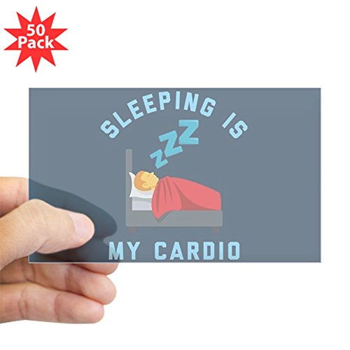 CafePress - Sleeping Is My Cardio - Sticker (Rectangle 50 pk) by CafePress