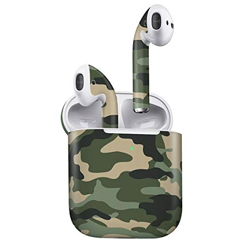 GADGETS WRAP Green Camo Skin Compatible for Apple Airpods 2 (2nd Gen)