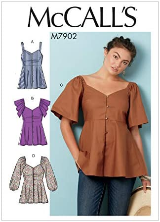 size 18 20 McCalls sewing pattern 9191 womens blouse with ruffles and interesting collars 22 UNCUT OOP Vintage 90/'s