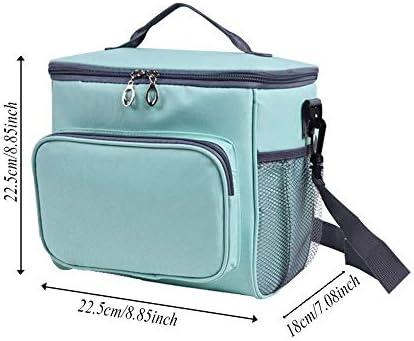 HuuWisseor22 携帯用斜めの絶縁材袋、食糧および飲料の貯蔵袋、大容量の屋外の多目的ピクニックバッグ(22.5 * 22.5 * 18 Cm)