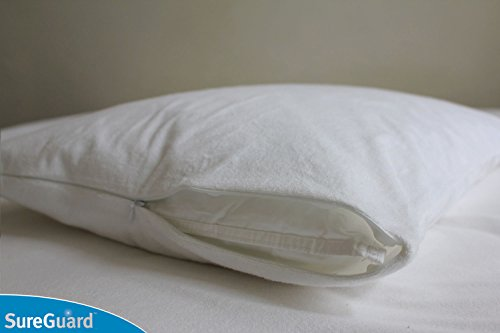 Set of 2 Standard Size SureGuard Pillow Protectors