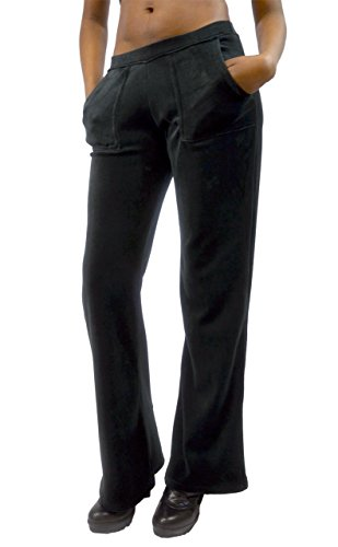 Velour Hoodie Sweat Suit Jacket and Pants Set (Black, 2X)