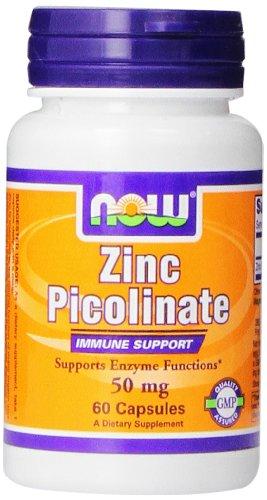 NOW Zinc Picolinate,60 Veg Capsules